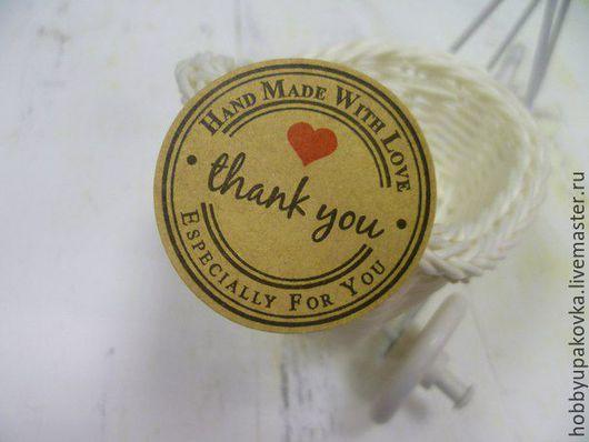 Упаковка ручной работы. Ярмарка Мастеров - ручная работа. Купить Крафт-наклейка для упаковки Ваших работ. Handmade. Упаковка