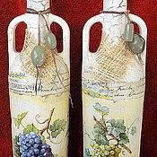 Посуда ручной работы. Ярмарка Мастеров - ручная работа Декоративные бутылки в технике декупаж. Handmade.