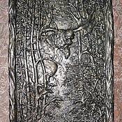 """Картины и панно ручной работы. Ярмарка Мастеров - ручная работа Барельеф """"В лесу"""". Handmade."""
