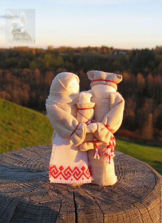 Народные куклы ручной работы. Ярмарка Мастеров - ручная работа. Купить Неразлучники - семейный оберег. Handmade. Народная кукла, Архангельск