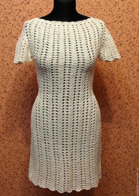 Платье вязаное крючком. ` Нежный крем`