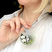 Украшения handmade. Livemaster - original item Pendant with Orchid. Handmade.