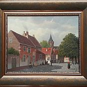 Картины ручной работы. Ярмарка Мастеров - ручная работа Голландский квартал 2. 40х50см. Handmade.