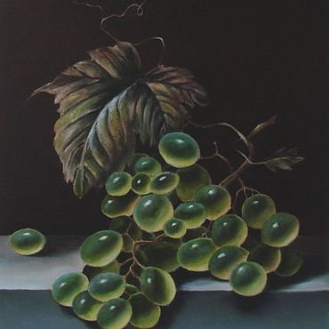 """Картины и панно ручной работы. Ярмарка Мастеров - ручная работа Картина с виноградом """"Гроздь винограда"""" - картина маслом. Handmade."""