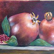 Картины и панно ручной работы. Ярмарка Мастеров - ручная работа картина Гранаты. Handmade.