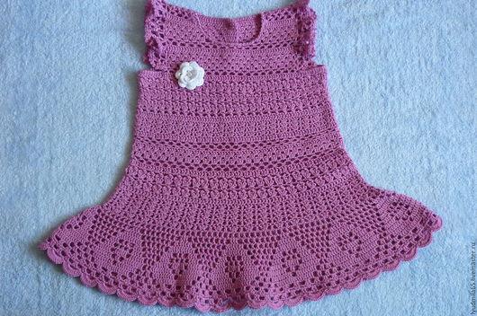 Одежда для девочек, ручной работы. Ярмарка Мастеров - ручная работа. Купить Летнее платье для малышки. Handmade. Фуксия, платье для девочки