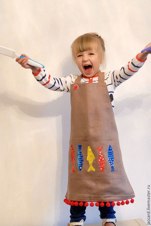 Кухня ручной работы. Ярмарка Мастеров - ручная работа. Купить Детский фартук для кухни и торчества. Handmade. Фартук для кухни, девочке