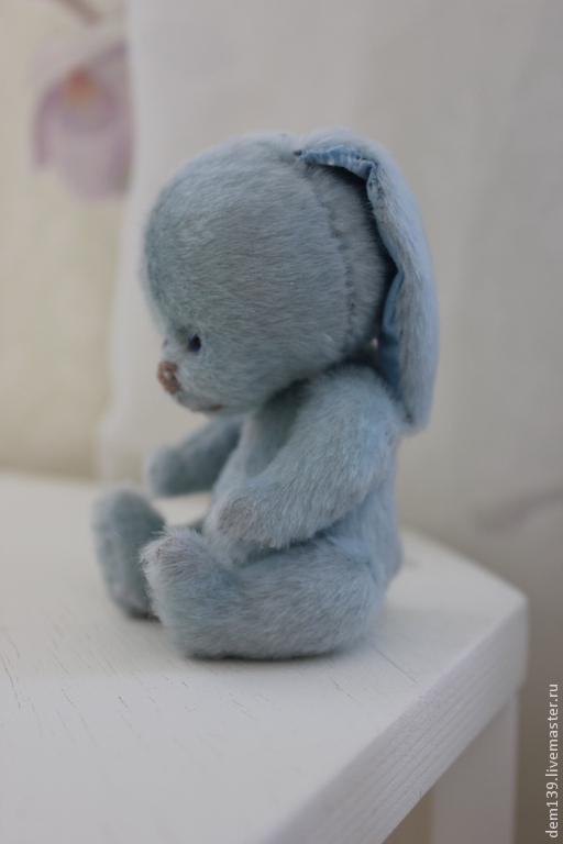 Мишки Тедди ручной работы. Ярмарка Мастеров - ручная работа. Купить Зайка - друг Тедди. Handmade. Голубой, зайка, грусть