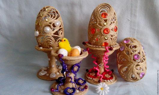 Игрушки животные, ручной работы. Ярмарка Мастеров - ручная работа. Купить Пасхальное яйцо. Handmade. Джутовый шпагат, джутовый шпагат