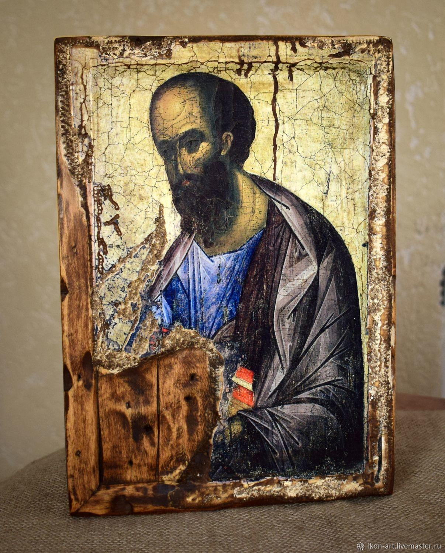 """Икона деревянная """"Апостол Павел"""", Иконы, Симферополь,  Фото №1"""