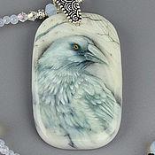 Украшения handmade. Livemaster - original item Necklace with hand painted