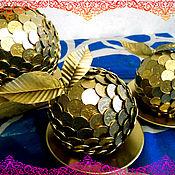 Подарки к праздникам ручной работы. Ярмарка Мастеров - ручная работа сувенир из монет. Handmade.