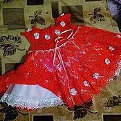 Платья ручной работы. Ярмарка Мастеров - ручная работа Платье Яркая настурция. Handmade.
