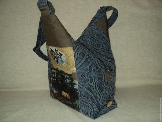 """Женские сумки ручной работы. Ярмарка Мастеров - ручная работа. Купить Текстильная сумка """" Прогулочная"""". Handmade. Комбинированный"""