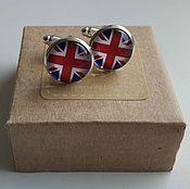 Украшения handmade. Livemaster - original item Cufflinks silver plated British flag. Handmade.