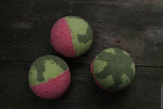 Бомбы для ванны ручной работы. Ярмарка Мастеров - ручная работа. Купить Бомба для ванны  Кусочек лета с ароматом арбуза. Handmade.