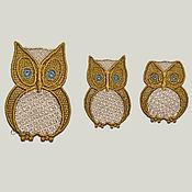 Материалы для творчества handmade. Livemaster - original item embroidered Small applique patch sew-on Sowosky. Handmade.