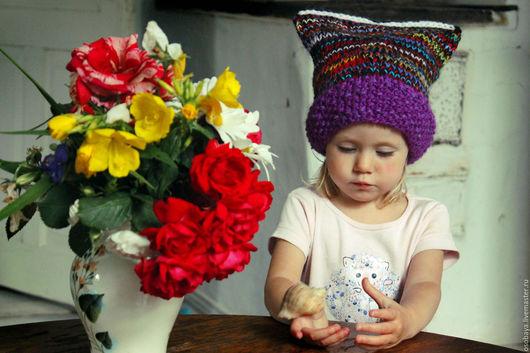 Шапки ручной работы. Ярмарка Мастеров - ручная работа. Купить шапка навсегда. Handmade. Вязайн, шапка демисезонная, вязка путанкой