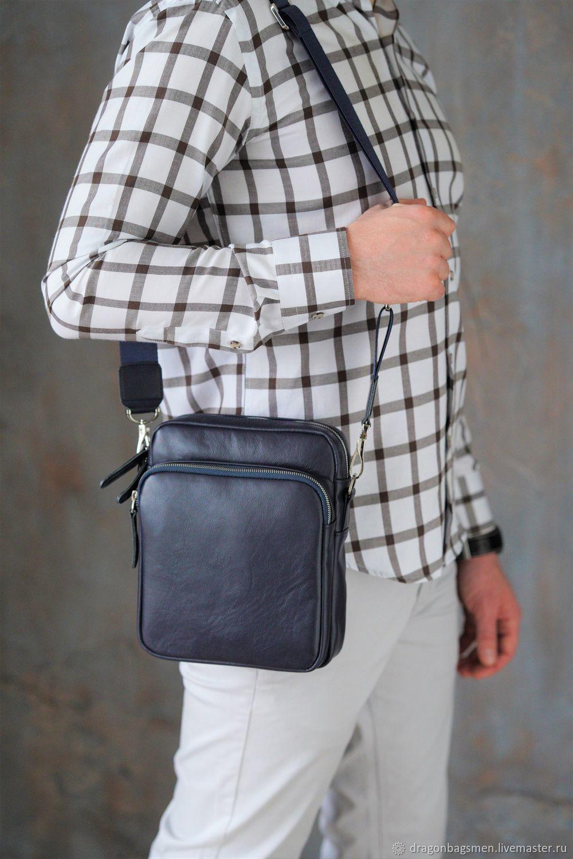 Men's shoulder bag 'Wilson' (Dark blue), Men\'s bag, Yaroslavl,  Фото №1