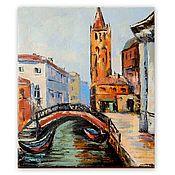 Картины и панно handmade. Livemaster - original item The Picture Venice. City landscape oil.. Handmade.