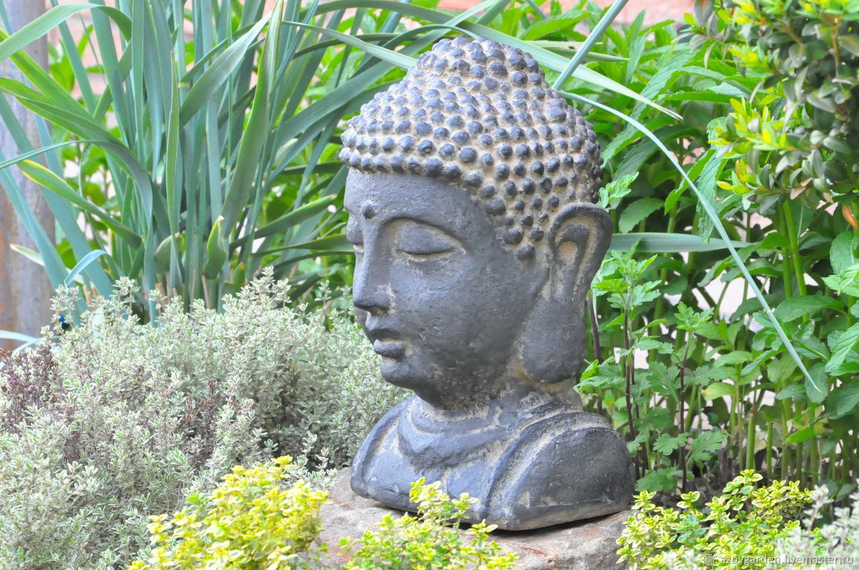 The statue garden is a bust of Buddha for landscape design, garden decor, Garden figures, Azov,  Фото №1
