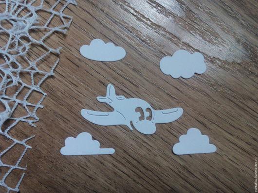 Открытки и скрапбукинг ручной работы. Ярмарка Мастеров - ручная работа. Купить !Вырубка для скрапбукинга-САМОЛЁТ в ОБЛАКАХ, диз карт. Handmade.