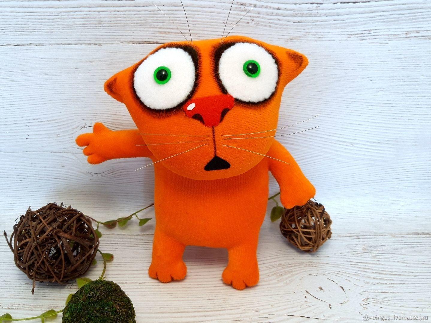 Он первый начал! Мягкая игрушка рыжий кот Васи Ложкина, Мягкие игрушки, Москва,  Фото №1