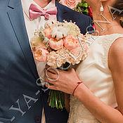 Свадебный салон ручной работы. Ярмарка Мастеров - ручная работа Букет невесты и бутоньерка №2. Handmade.