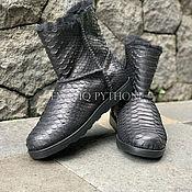 Обувь ручной работы handmade. Livemaster - original item Ugg boots Python skin. Handmade.