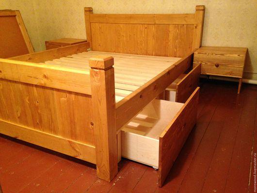 Мебель ручной работы. Ярмарка Мастеров - ручная работа. Купить Кровать2. Handmade. Бежевый, кровать, кровать из дерева, кровать на заказ