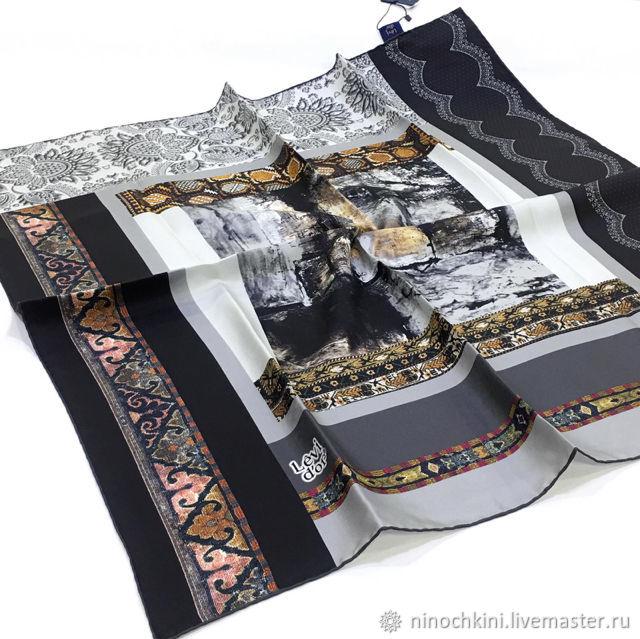 Шелковый платок из ткани Levi Dor.Платок шёлк, Платки, Астрахань,  Фото №1