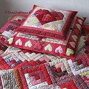 Для дома и интерьера handmade. Livemaster - original item Set of three patchwork cushions