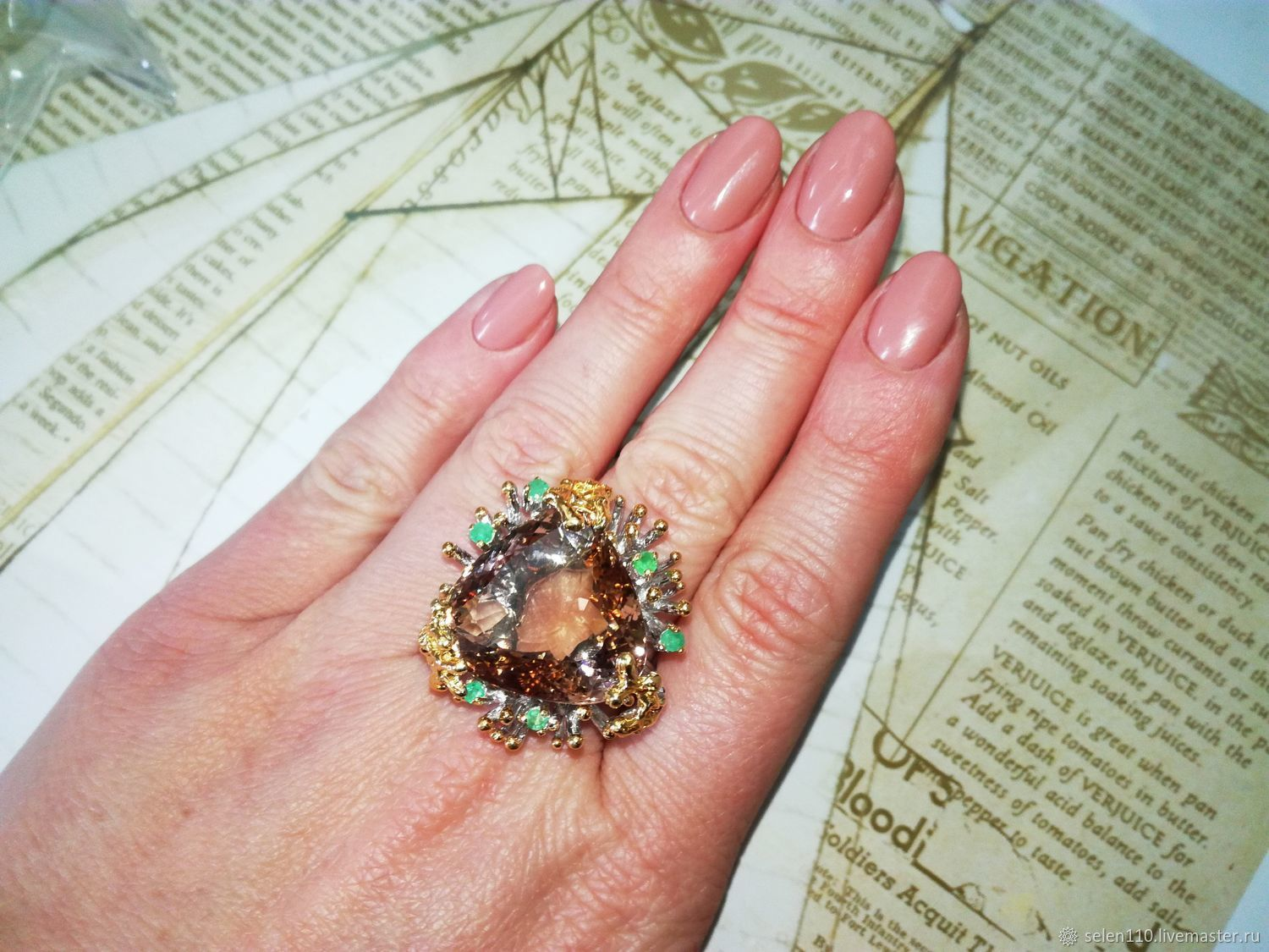 Ring 'Family heirloom' with natural ametrine, Ring, Voronezh,  Фото №1