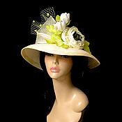Аксессуары handmade. Livemaster - original item Straw hat
