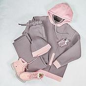 Одежда handmade. Livemaster - original item Suits are warm footers with a fleece. Handmade.