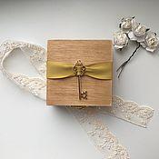 """Свадебный салон ручной работы. Ярмарка Мастеров - ручная работа Шкатулка для колец / для подарка """"Ключик"""". Handmade."""