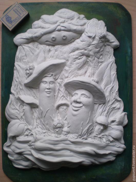 Детская ручной работы. Ярмарка Мастеров - ручная работа. Купить Барельеф - раскраска, грибы.. Handmade. Детский барельеф, настенное панно
