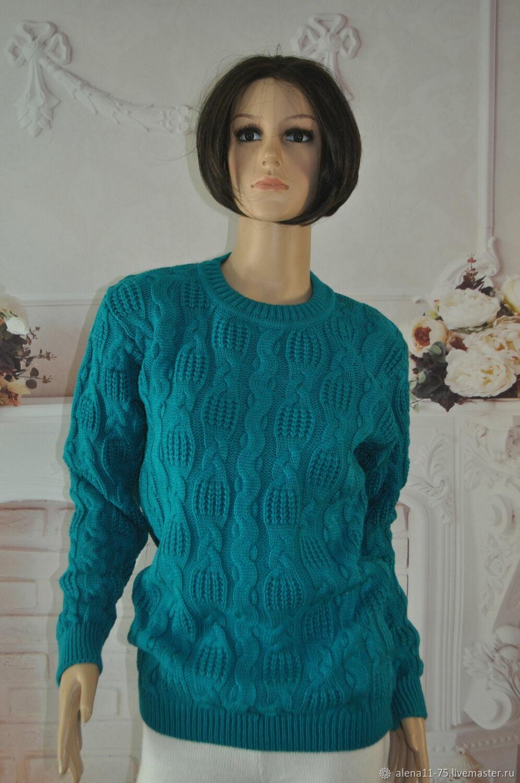 Hand-knitted jumper, ,50-54p., half-wool, Jumpers, Lipetsk,  Фото №1