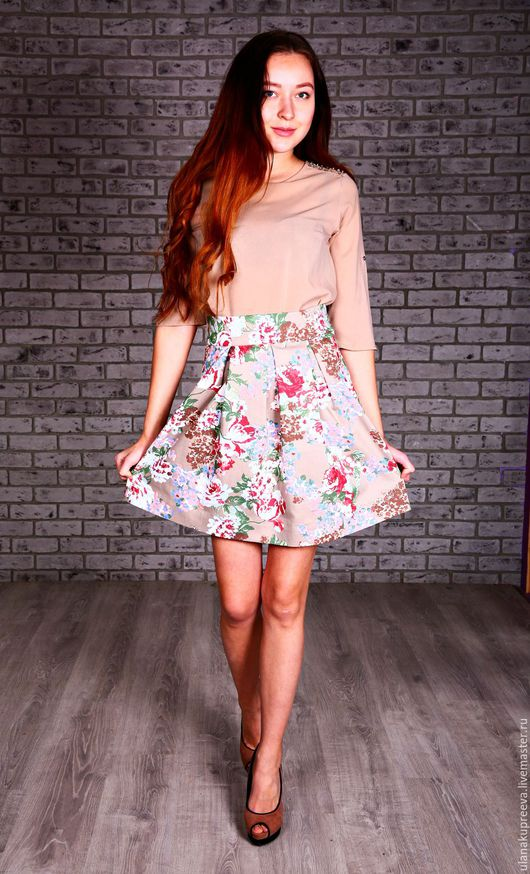 Летняя юбка из итальянского хлопка.