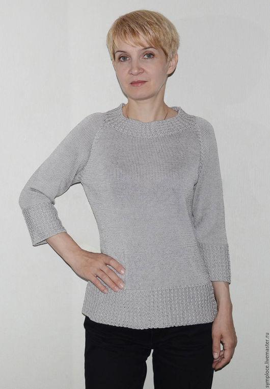 Кофты и свитера ручной работы. Ярмарка Мастеров - ручная работа. Купить Джемпер женский. Handmade. Серый, джемпер, блузка