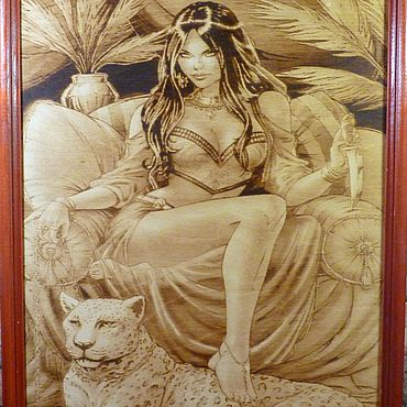 Картины и панно ручной работы. Ярмарка Мастеров - ручная работа Картины: картина выжженная на дереве. Handmade.