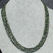 Работы для детей, handmade. Livemaster - original item Beads natural stone serafinite (a clinochlore). Handmade.