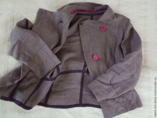 """Пиджаки, жакеты ручной работы. Ярмарка Мастеров - ручная работа. Купить Жакет """"Апрельский"""".. Handmade. Бледно-сиреневый, лен, сиреневый"""