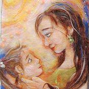 """Картины и панно ручной работы. Ярмарка Мастеров - ручная работа Картина из шерсти """"Мамина дочка"""". Handmade."""