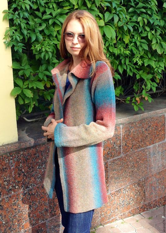 Кофты и свитера ручной работы. Ярмарка Мастеров - ручная работа. Купить Вязаный женский кардиган из Дундаги. Handmade. Вязанное пальто