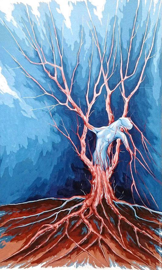 """Абстракция ручной работы. Ярмарка Мастеров - ручная работа. Купить картина """"Освобождение"""". Handmade. Картина в подарок, сюрреализм, дерево"""