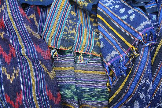 """Текстиль, ковры ручной работы. Ярмарка Мастеров - ручная работа. Купить Легкое покрывало в технике """"Икат"""".. Handmade. Комбинированный"""