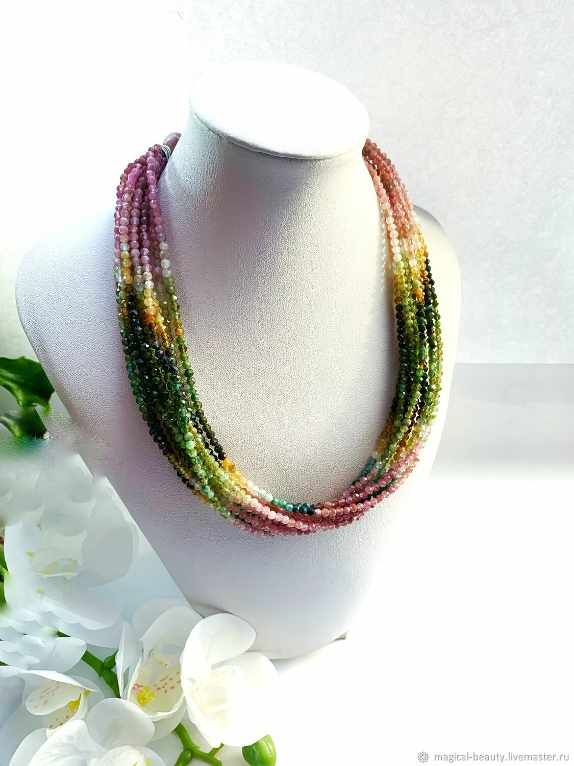 Tourmaline necklace ' Forest Maiden.», Necklace, Moscow,  Фото №1
