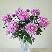 Букет Сиреневые хризантемы (холодный фарфор)