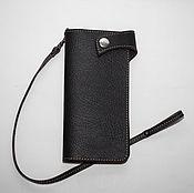 Сумки и аксессуары handmade. Livemaster - original item Biker leather wallet made of genuine thick leather.. Handmade.